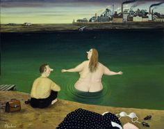 Valentin Gubarev / Валентин Губарев is a member of the Union of Artists and has been included in a number of auctions at Christie's and Sotheby's. Illustrations, Illustration Art, Plus Size Art, Naive Art, Russian Art, Beach Day, Figure Painting, Figurative Art, Contemporary Artists