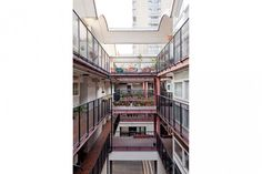 This is a very rare example of a studio flat on the sought-after Golden Lane Estate with most of its original features intact. The apartment is on the second floor of Crescent House, favourably situated at the rear of the building, away from the road. Barbican, Second Floor, Past, Stairs, London, Architecture, Building, Modern, House