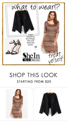 """SheIn 3/VII"" by hedija-okanovic ❤ liked on Polyvore featuring shein"