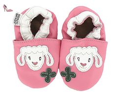 """HOBEA-Germany Krabbelschuhe Lamm """"Wölckchen"""", Chaussures Bébé quatre pattes (1-10 mois) mixte bébé - Rose (pink), 16/17 EU - Chaussures hobea germany (*Partner-Link)"""