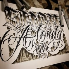 "Chicano And Letters Tattoo on Instagram: """"Such a lonely day"" #letter #lettering #letterhead #lettertoliveby #letterstoliveby #calli #calligraphy #chicano #chicanoart #saintp #spb #piter #such #a #lonely #day #art #copic #bng @letteringinsoul @letterstoliveby @uk.lettering.group"""