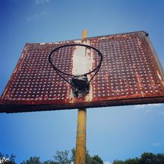 Letchworth Village in Theills NY.  #abandoned #abandonedplaces #abandonedbuilding #insaneasylum #creepy #hoops #basketball #backboard #bees #hornets #hornetsnest by ieateggseverymorning