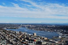 A view of Seattle from the top of the Space Needle.