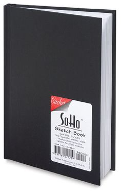 This hardbound sketchbook has a linen-embossed black paper cover with durable adhesive binding. It contains 60 lb white drawing paper that is suitable for all dry media and withstands repeated erasures. Middle School Supplies, College Supplies, Art Supplies, Art Pencil Set, Hardcover Sketchbook, Stationary School, Sketch Pad, Quilling Designs, Paper Cover