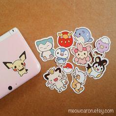 Pokemon Stickers by Meowcaron on Etsy