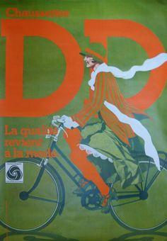 """ANDRÉINI Ettorino CHAUSETTES DD.""""LA QUALITÉ REVIENT À LA MODE"""".Vers 1970"""