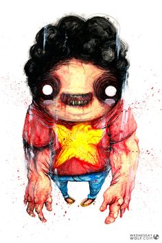 Steven Universe Watercolours, Steven Universe, Disney Characters, Fictional Characters, Wolf, Disney Princess, Painting, Art, Painting Art