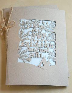 Gorgeous lasercut invitation