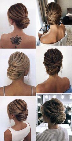 Classic Wedding Hair, Messy Wedding Hair, Bridal Hair Updo, Wedding Hairstyles For Long Hair, Wedding Hair And Makeup, Bride Hairstyles, Bridal Gown, Hairstyle Ideas, Gown Wedding