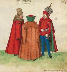 Hungarian nobles. Códice de trajes - spanish codex 1573