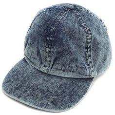 Acid wash denim hat.