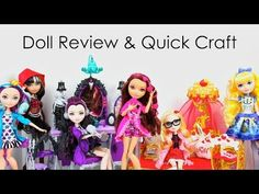 Doll Review: Ever After High: Getting Fairest, Cerise, Blondie | Plus Jane Boolittle  & Quick Craft