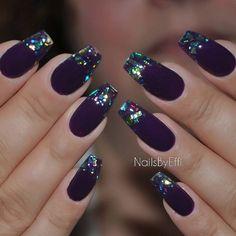 """Έφη Θεοδώρα on Instagram: """"Purple with multicolor flakes #gel"""""""