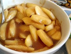 Easy recipe for sautéed apples made on the stovetop, is the perfect side dish for many entrees. Sweet and tender apples with cinnamon are delicious. Sauteed Apples Recipe, Cooked Apples, Fruit Recipes, Apple Recipes, Sweet Recipes, Apple Desserts, Fall Recipes, Yummy Recipes, Recipes