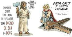 Cristo y Thor Funny Christian Memes, Christian Humor, Christian Life, Christian Quotes, Jesus Art, My Jesus, Jesus Christ, Love The Lord, Gods Love