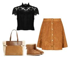 """""""Suede skirt"""" by penelope1234567 ❤ liked on Polyvore featuring UGG Australia and Alice + Olivia"""