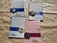 Kerstkaart met theezakjes en embossingfolder (teabag folding / origami Christmas card)