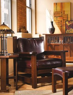 ISSUU - Stickley Mission Oak & Cherry Collection by Stickley. Oh that lamp!