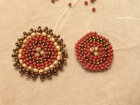 Going Round in Circles with Circular Brick Stitch - Daily Blogs - Blogs - Beading Daily  Cocentric and Spiral Circular Brick Stitch