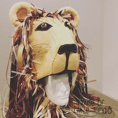 """""""She had managed to procure a hat shaped like a life-sized lion's head, which was perched precariously on her head."""" See post 1 with the . Ropa Burning Man, Lion Hat, Christmas Clearance, Luna Lovegood, Black Acrylics, Design Process, Sculpting, Hats, Harry Potter"""