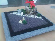A Sandbox Miniature Zen Garden by WallzArt Miniature Zen Garden, Sandbox, Miniatures, Gardening, Home Decor, Original Gifts, Litter Box, Decoration Home, Room Decor