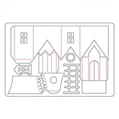 Sizzix Bigz L Die - Village Manor by Tim Holtz 661591