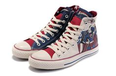 I just like this  Converse All Star DC Comics Superman Off White under $50