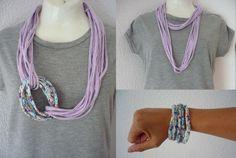 collar de trapillo hecho a mano por ARESIBIZA en Etsy, €10.00