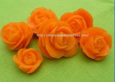 simply.food: Apple and Carrot Roses~ Fruit and Vegetable carving video link