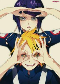 Denki, Kyouka, funny, eyes; My Hero Academia