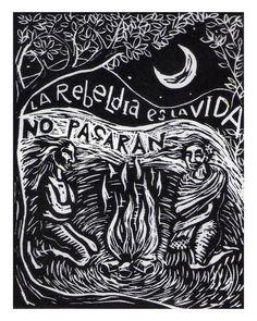 Imagen de Mujeres Grabando Resistencias Arte Punk, The Desire Map, Mexico Art, Latina, Scratchboard, Chicano Art, Drawing Practice, Simple Art, Graphic Design Inspiration