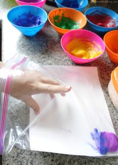 how to add the paint to a bag