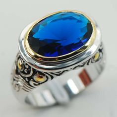 Dorric Sterling Silver Plated Rings Sapphire simulated