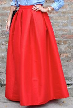 red maxi pleated skirt  http://rstyle.me/n/sttqnpdpe