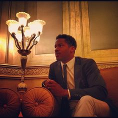 #ADFF12 @SilviaRazgova - Back in golden glow: actor @NateParker #Arbitrage during his interview
