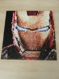 Iron Man perler bead art by Nesrin Yilmaz