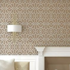 J BOUTIQUE STENCILS Geometric Allover Pattern Wall Stencil Emily for DIY decor Wallpaper Look