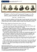 Great website for exploring the Declaration of Independence in-depth! Includes pdf that explains each of the 27 grievances!