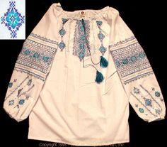 Handmade Ukrainian hand embroidered women's blouse #WS08-4346 from Western Ukraine, sold on AllThingsUkrainian.com