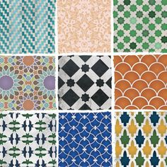 Moroccan patterns... I like the top left one and the scalloped one