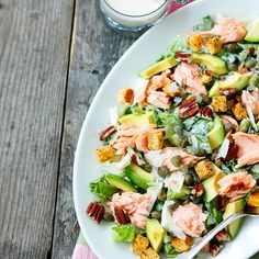 Caesar-salaatti saa - My Foodie Group Healthy Eating Recipes, Healthy Salads, Lunch Recipes, Salad Recipes, Cooking Recipes, Clean Eating, Salad With Sweet Potato, Soup And Salad, Tasty Dishes