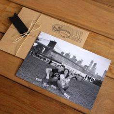 """Invitación modelo """"Postal con foto"""""""
