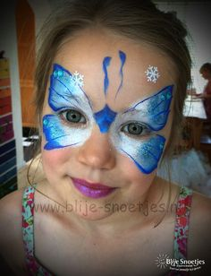 Blije-Snoetjes   Gallery Butterfly Face Paint, Face Painting Tutorials, Face Paint Makeup, Face Design, Painting For Kids, Face Art, Face And Body, Body Painting, Tatoos
