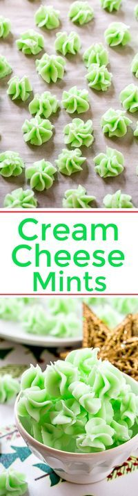 Cream Cheese Mints have to be the easiest to make holiday candy!