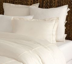 PB Essential Duvet Cover, Ivory (with monogram)