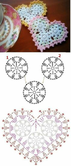 Discover thousands of images about Crochet Crochet Diagram, Crochet Chart, Thread Crochet, Crochet Motif, Diy Crochet, Crochet Stitches, Crochet Flower Patterns, Crochet Designs, Crochet Flowers