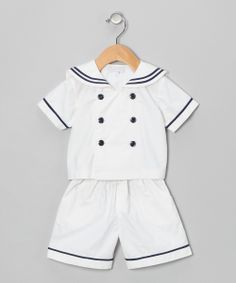 White Sailor Shirt & Shorts - Infant & Toddler | Daily deals for moms, babies and kids