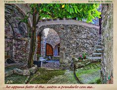 """LA SABINA nel Lazio-ITALIA_""""A kind invitation!""""... just made tea, comes to take it with me..."""