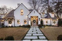 Front walk - pavers w mondo grass between. For back patio? Coastal Farmhouse, Modern Farmhouse Style, Dream Home Design, My Dream Home, Dream Land, Exterior Design, Interior And Exterior, Exterior Homes, Exterior Colors