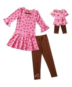 a1921dac27 Pink Pony Surplice Tunic Set  amp  Doll Outfit - Girls  zulily  zulilyfinds  Girl